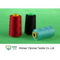 Quality Dyed 100 Spun Polyester Sewing Thread With Plastic / Paper Cone Wear Comfortable wholesale