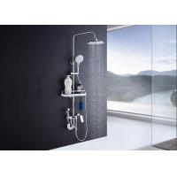 Quality Adjustable Slide Bar Rain Shower Set ROVATE Exposed Pipe Shower Systems wholesale