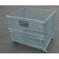 Quality 6mm Thickness Industrial Pallet Racks Steel Wire Mesh Containers Stackable wholesale