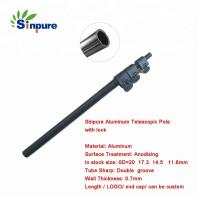 Quality Custom Black Oxidation Aluminum Telescopic Pole With Hooks At The Top wholesale