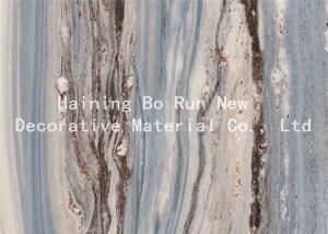 Quality Faux Marble Adhesive Film , Pvc Membrane Foil For Doors Scratch Resistance wholesale