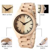 Quality Dial Japan Movement Wooden Quartz Watch , Original Wood Grain Watches For Gift wholesale