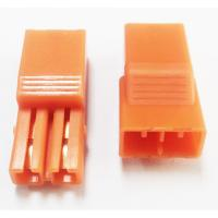 Quality 5.60mm Pitch 2P LED Connectors L=27.4  PA66 Orange Led Strip Connector wholesale