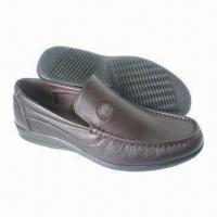 China Men's Dress Shoes, Made of Genuine Leather, with PU Outsole on sale