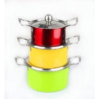 Quality 3PCS Stainless Steel Sausepan Set with Steel Cover wholesale