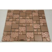 Quality Beautiful Bronze Mixed Square Glass Mosaic Tile Churchill Hotel Backsplash Usage wholesale