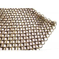 Quality Stainless Steel Ring Mesh Drapery 1.2MM X10MM Used Window Treatments , Backdrops wholesale