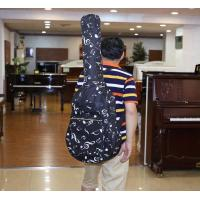 Quality Padding Sponge Double Shoulder Guitar Soft Bag With Music Note And Front Pocket wholesale