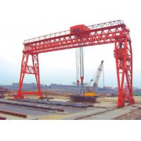 Quality Red / Yellow Economical 70t Truss Gantry Crane For Stockyards / Machinery Factory European standard wholesale