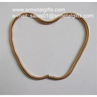 China Wholesale gold plated steel snake chains, gold brass snake chains on sale