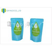 Quality Blue Stand Up Pouch With Spout / Double Zipper liquid pouch packaging in Juice Packing wholesale