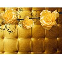 Quality Yellow Roses 3D Bamboo Wall Panels Decorative Interior Wall Paneling wholesale