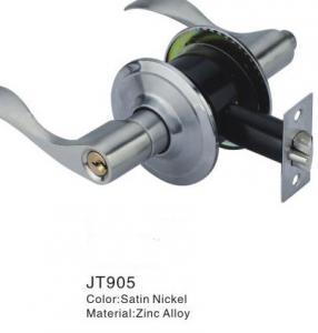 China Zinc Alloy Door Lever Lock / Safety Lock For Lever Door Handles on sale