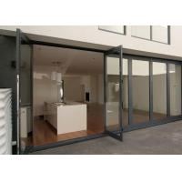 China Double Glazing Tempered Glass Door Aluminium Frame , Restaurant Swing Doors Commercial on sale