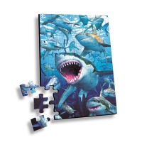 Quality Custom 100 Piece Plastic Cartoon 3D Lenticular Printing Puzzle or 3D Movie Jigsaw for promotion or souvenir wholesale