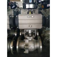 Quality 2PC Floating Type, Stainless Steel Pneumatic Actuator Flanged Ball Valve wholesale
