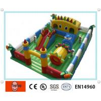 Quality Commercial Attractive Inflatable Fun City , Small Inflatable moon bounce for kids wholesale