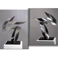Quality Customized Modern Stainless Steel Art Sculptures Indoor Decorative Brushed Finishing wholesale