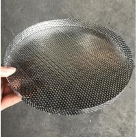 Quality 304 Stainless Steel Perforated Filter Mesh Tray Polishing Treatment wholesale