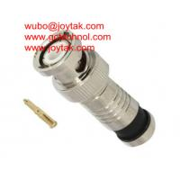 Quality BNC male Coaxial Connector BNC Compression Type 50ohm for RG6U coax cable wholesale