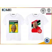 Quality Custom T Shirt Printing Polyester / Cotton Election Campaign T Shirts O Neck wholesale