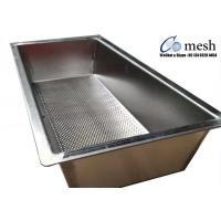 Quality Heavy Duty Stainless Steel Perforated Metal Tray 2mm Thickness For Making Cheese wholesale