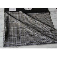 Quality Criss Cross Strip Tartan Wool Fabric Houndstooth Causal Suit / Pants With Vertical Line wholesale