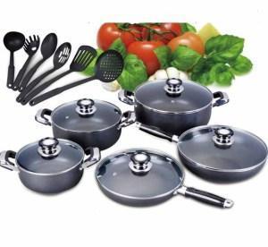 Quality Aluminum Non-Stick Cookware Set 16PCS wholesale