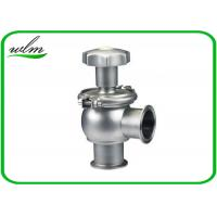 Quality Hygienic Sanitary Manual Flow Regulating Valve Butt Weld / Tri Clamp Connection Ends wholesale
