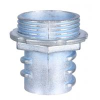 Quality Zinc Die Casting Flexible Conduit Fittings Screw In Flex Connectors Polished wholesale