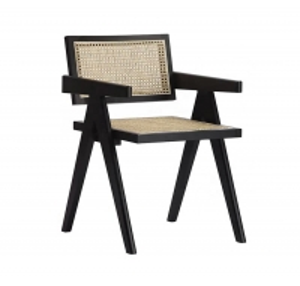 Quality Stylish Black Rattan Garden Dining Chairs Width 50cm Depth 50cm wholesale