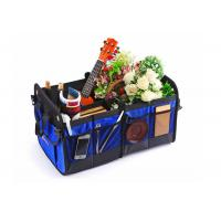 Quality Blue Car Trunk Organizer Waterproof Bottom With Velcro Strips To Prevent Sliding wholesale
