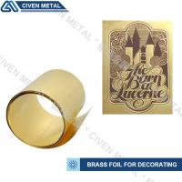 Quality High-precision brass foil with wide width:1.0~650mm/applied to lamination, heating foils, etch etc. wholesale