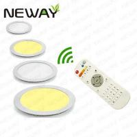 China 24W 300MM Remote Control CCT Ajustable Dimmable LED Round Panel Light on sale