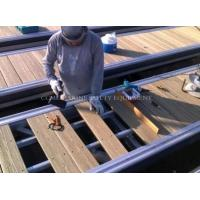 Quality plastic floating boat dock modules with wooden decking aluminum frame cleat wholesale