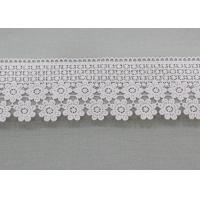 Quality Water Soluble Daisy Venice Guipure Lace Trim , Embellishment Wedding Lace Border wholesale