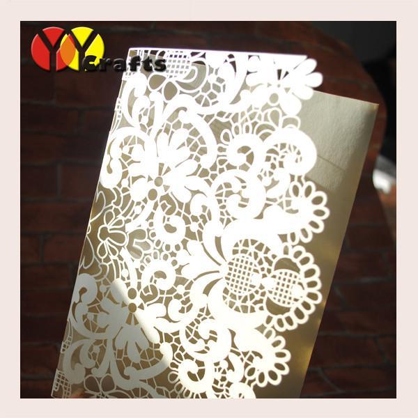 cheap elegant wedding invitations cards laser cut tri With inexpensive tri fold wedding invitations