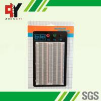 Quality Student DIY Transparent Soldered Breadboard 1660 Points 2 Terminal Strip wholesale