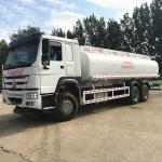 Quality White Fuel Tank Tanker , Sinotruk Howo 20000 Liters 6000 Gallon Diesel Oil Transporter wholesale