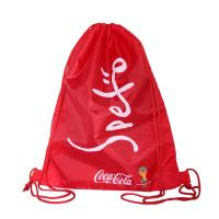 TPBP018 Outdoor Gym Sports Backpack Red Heavy Duty Polyester Drawstring