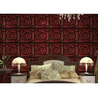 Quality Home Wall European Style Wallpaper Contemporary Mural Leather 3D Wall Panel for Hotel / Office wholesale