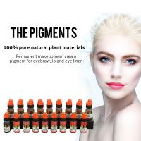 Quality OEM Pure Natural Plant Semi Permanent Makeup Pigments For Eyebrow Tattoo wholesale