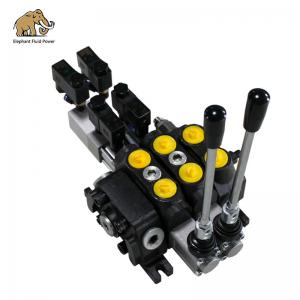 China Sectional 2 Spool Hydraulic Directional Valve Control on sale