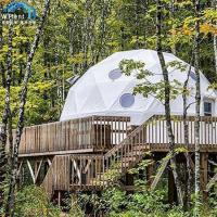 China Modern Geodesic Dome Shelter Tent Clear Window VIP Cassette Flooring on sale