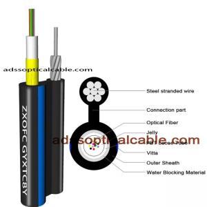 Quality Exterior Weatherproof Network Cable / Figure 8 Utp Cat6 Fiber Optic Cable wholesale