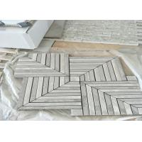 Quality Whit	Marble Mosaic Tile , marble mosic floor tile 10mm Thickness 302x302mm Sheet Size wholesale