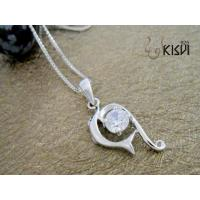 Quality Fashion Jewelry 925 Sterling Silver Gemstone Pendant with Zircon W-VB1036 wholesale