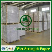 Cheap 60g 70g 75g 80g 100g high wet strength paper for beer label for sale