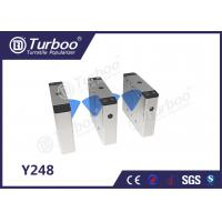 Quality Pedestrian Flap Barrier Turnstile For Indoor And Outdoor Security Management wholesale