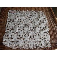 China Ivory Floral Water Soluble Lace Fabric(No. HF-MF1001) on sale